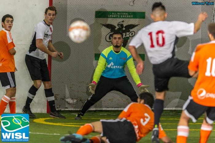 Danny Romero stands his ground as Arlington attacks. (Wilson Tsoi)