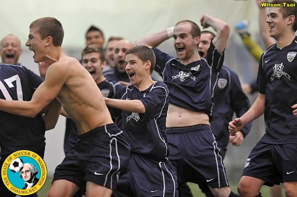 """Derek Johnson (far left, no shirt) is a """"physical"""